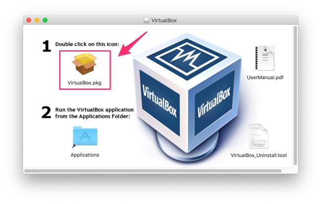Vitual Box インストール画面